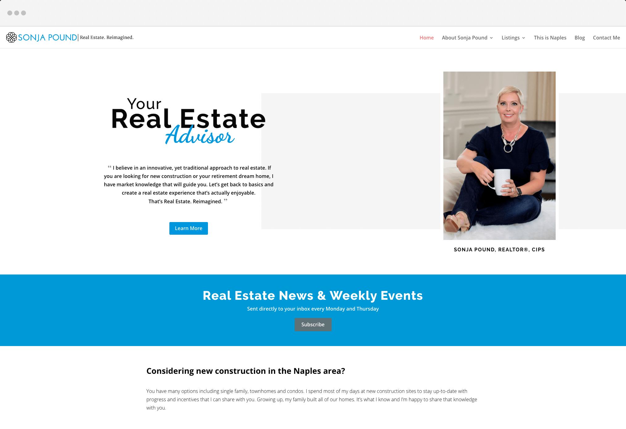 Sonja Pound's Website
