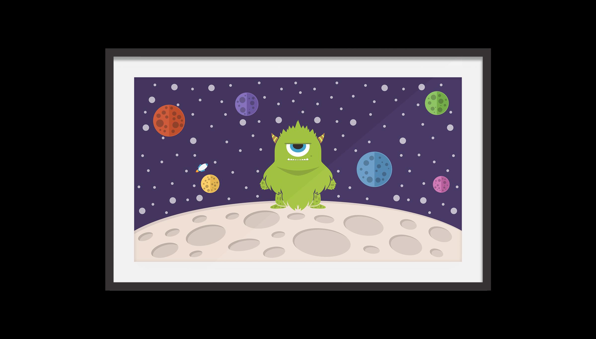 Garett's Monster Space Poster