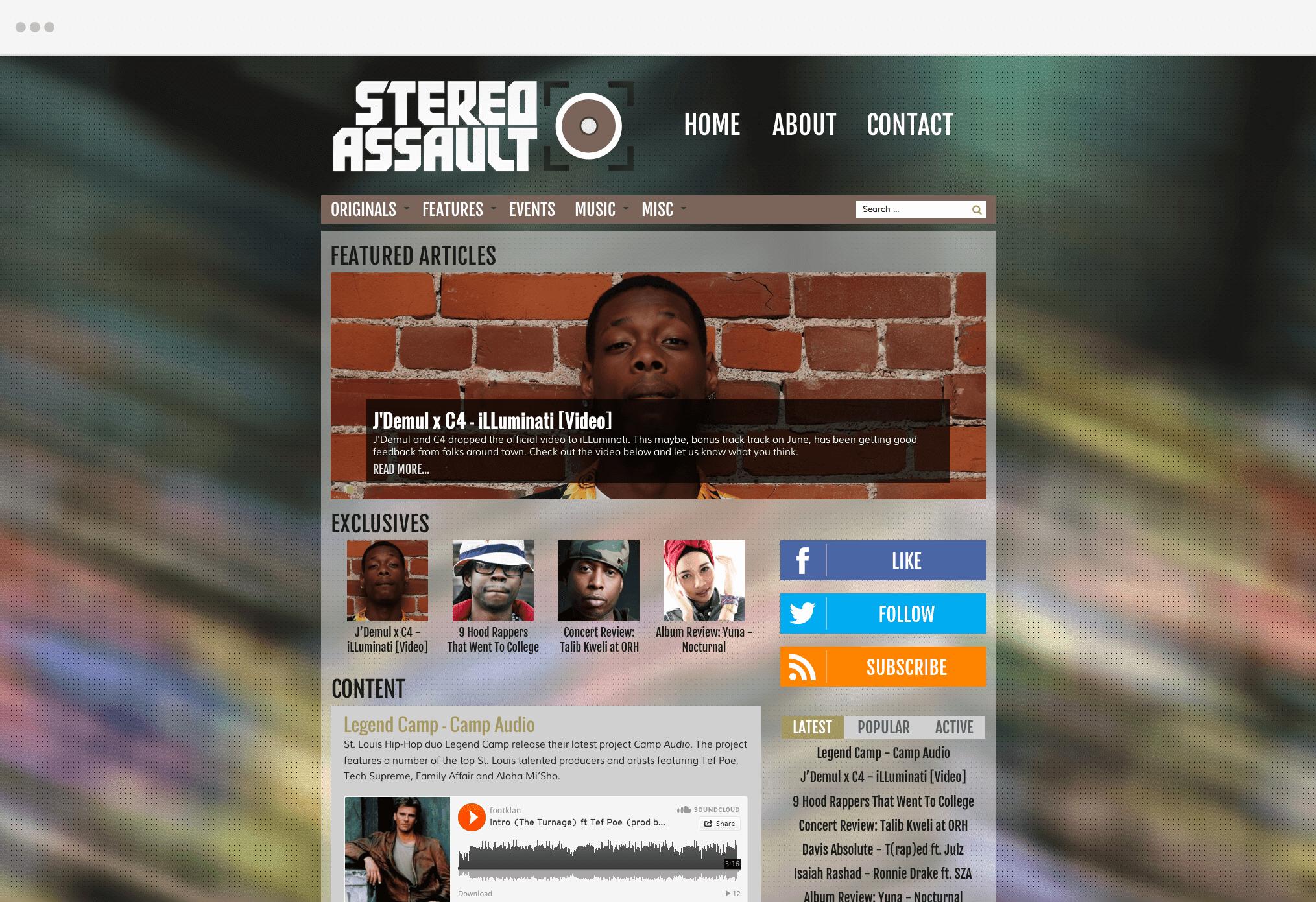 Stereo Assault Website