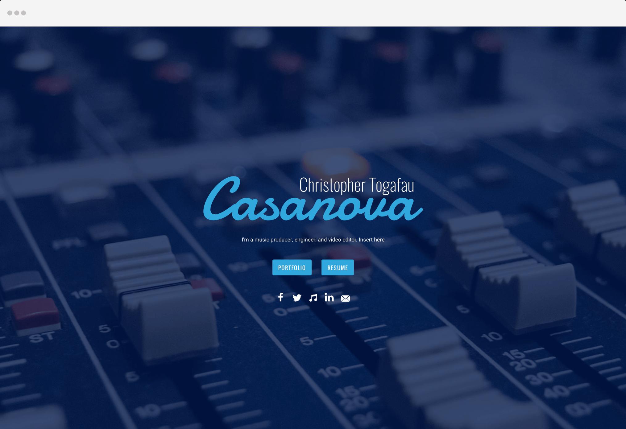 Casanova Landing Page