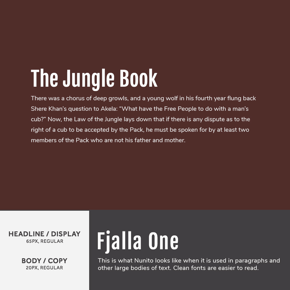 Fjalla One + Nunito - 21 Google Fonts Combinations For Websites