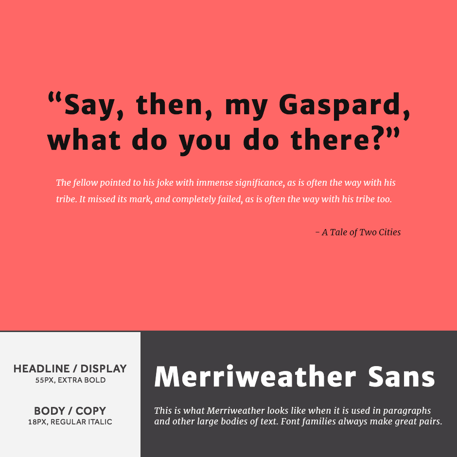 Merriweather Sans + Merriweather Sans - 21 Google Fonts Combinations For Websites