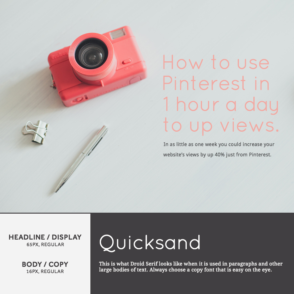 Quicksand + Droid Serif- 21 Google Fonts Combinations For Websites