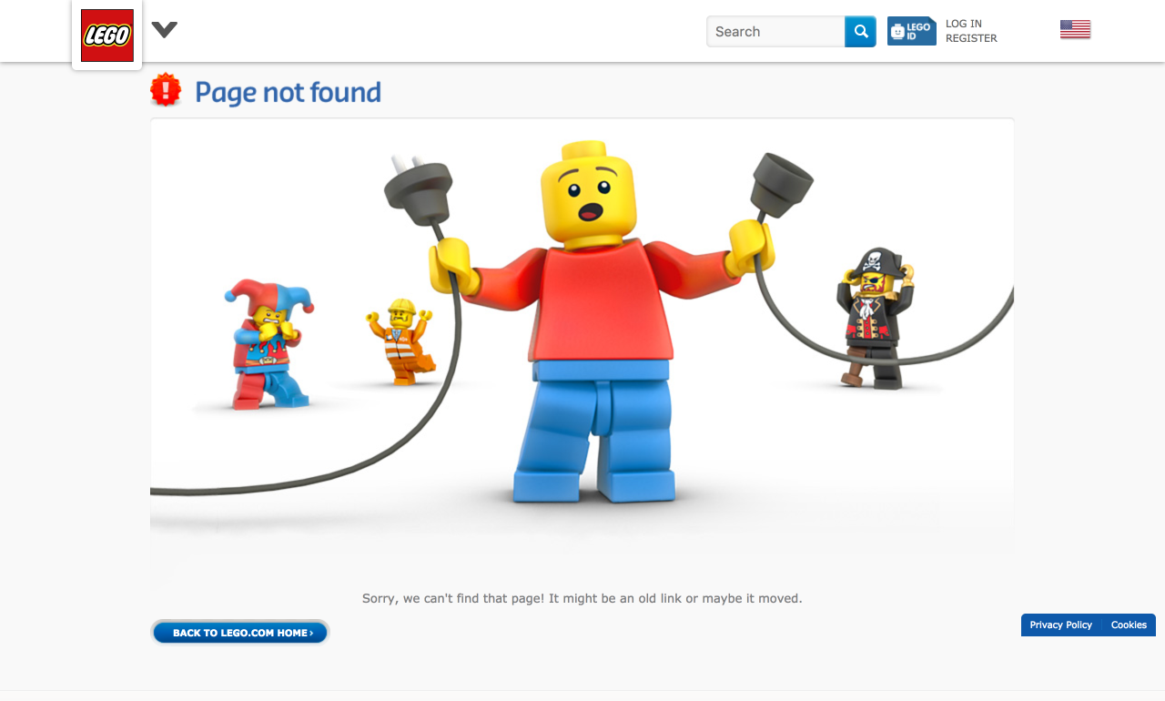 Lego 404 Page - 7 Creative 404 Pages & The Best Practices For Yours