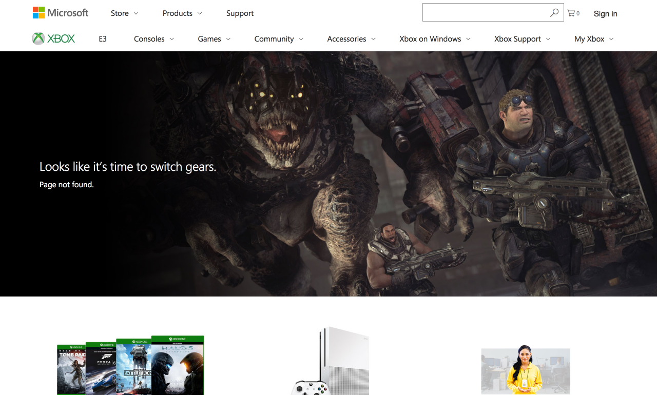 Xbox 404 Page - 7 Creative 404 Pages & The Best Practices For Yours